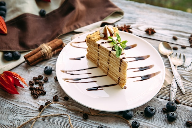 Słodki Apetyczny Deser Ciasto Premium Zdjęcia