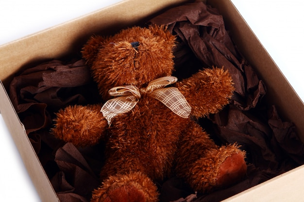 Słodki Miś W Pudełku Darmowe Zdjęcia