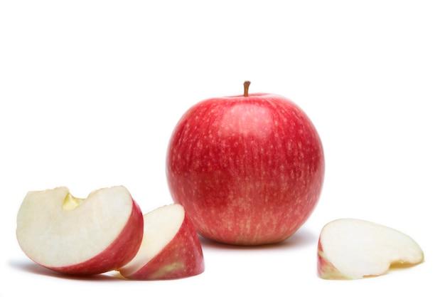 Słodkie jabłko z plasterkiem Premium Zdjęcia