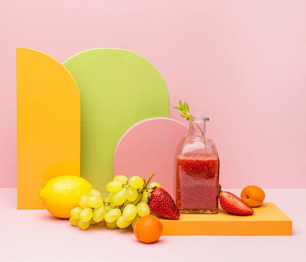 Słoik Ze świeżym Koktajlem Owocowym Darmowe Zdjęcia