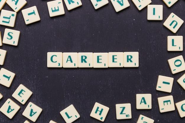 Słowo kariera w literach scrabble z góry Darmowe Zdjęcia