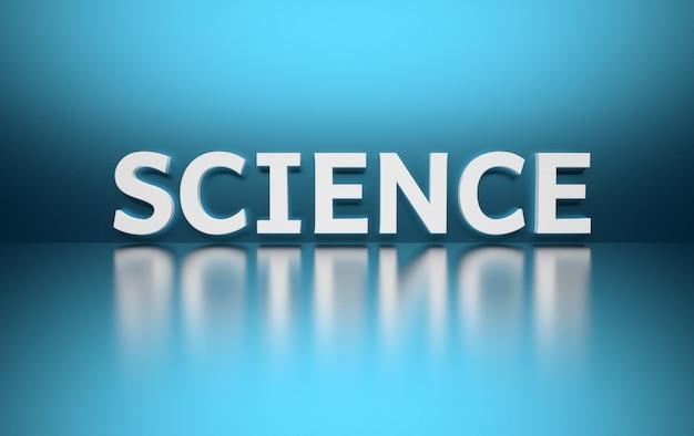 Słowo nauka napisane dużymi pogrubionymi białymi literami i umieszczone na niebiesko Premium Zdjęcia