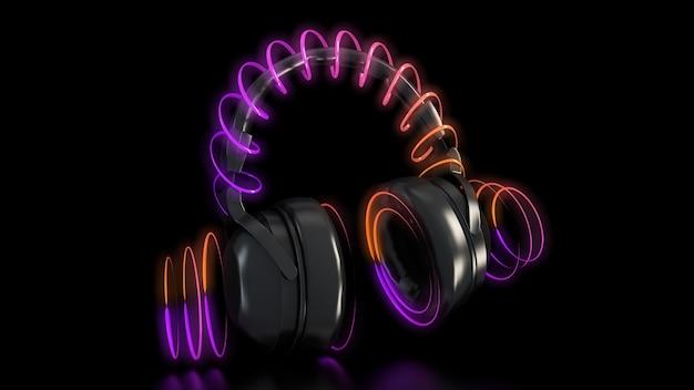Słuchawki I Neony Premium Zdjęcia