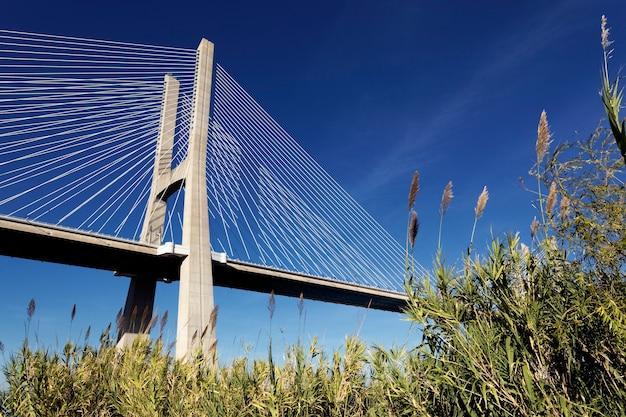 Słynny Most Vasco Da Gama W Lizbonie, Portugalia Darmowe Zdjęcia