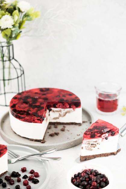 Smaczne Ciasto Kromka Wysoki Kąt Darmowe Zdjęcia