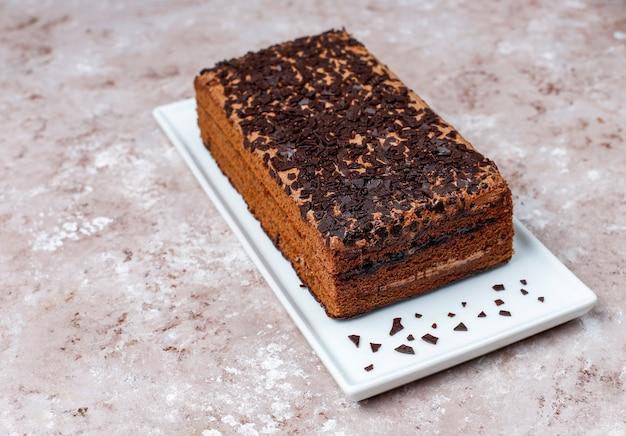 Smaczne Domowe Truflowe Ciasto Czekoladowe Z Kawą Premium Zdjęcia