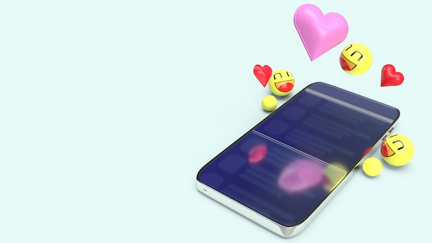Smartfon z emoji 3d Premium Zdjęcia