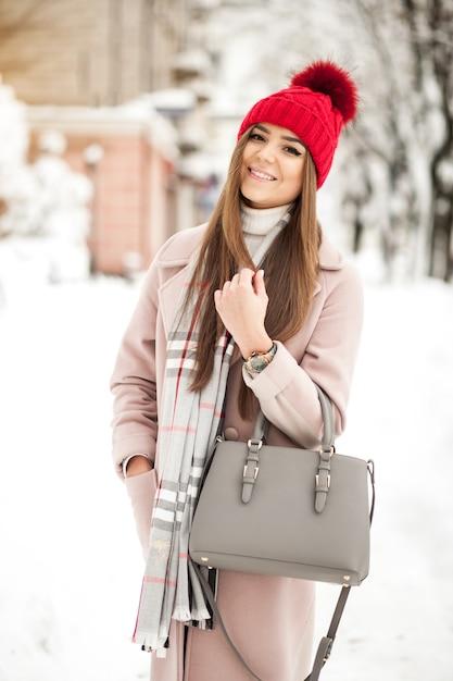 Śnieg Ha Dziewczyna Piękno Młodych Darmowe Zdjęcia