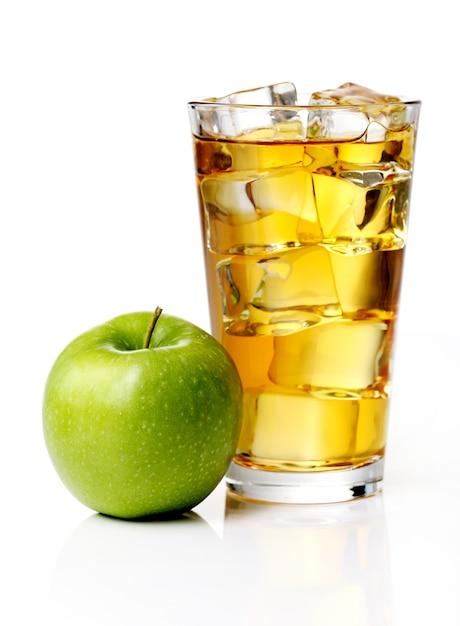 Sok jabłkowy z jabłkami Darmowe Zdjęcia