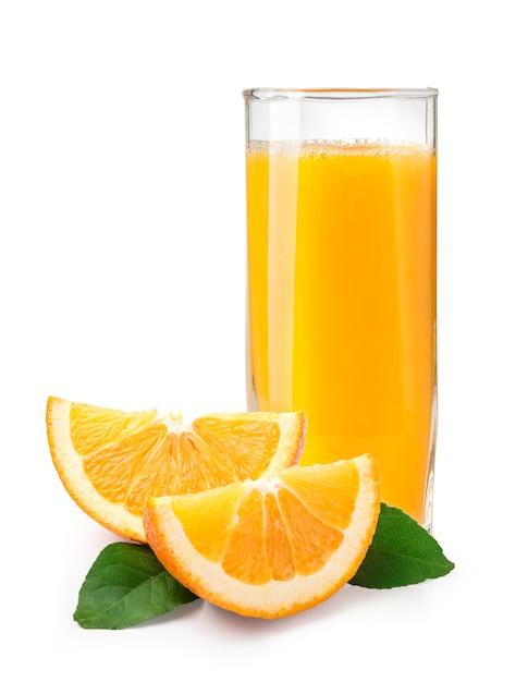 Sok Pomarańczowy I Pomarańcze Premium Zdjęcia