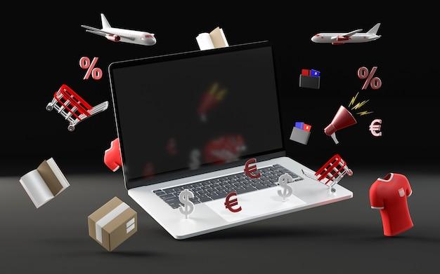 Specjalne Zakupy Z Laptopem Darmowe Zdjęcia