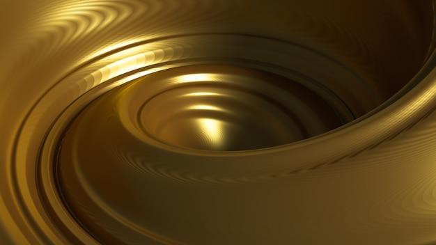 Spiral Splash Karmelowy. Ilustracja, Renderowanie 3d. Premium Zdjęcia