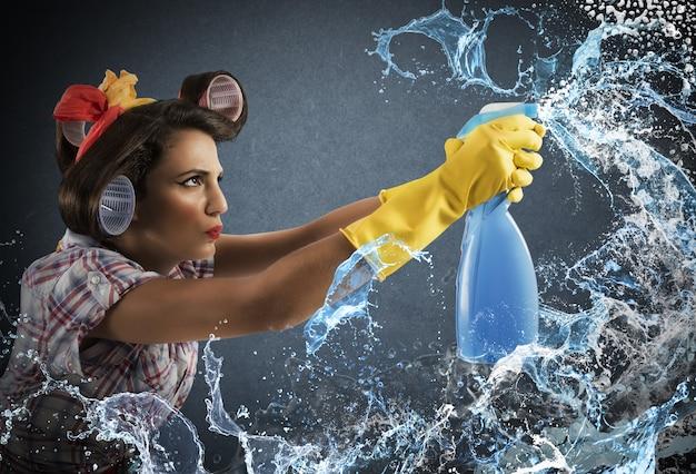 Spray Do Czyszczenia Gospodyni Premium Zdjęcia
