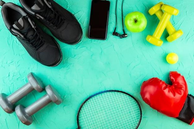 Sprzęt sportowy do fitnessu Premium Zdjęcia