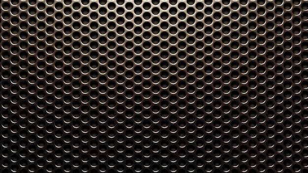 Srebrna, Metalowa Kratka W Tle. Renderowania 3d. Premium Zdjęcia