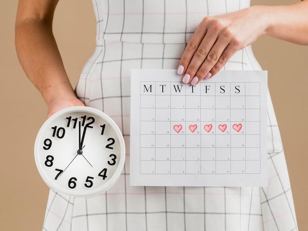 Średnie Ujęcie Czasu Kalendarza Okresu Miesiąca Darmowe Zdjęcia