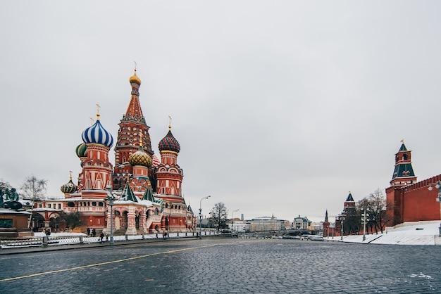 St basilu katedra na placu czerwonym, moskwa, rosja Premium Zdjęcia
