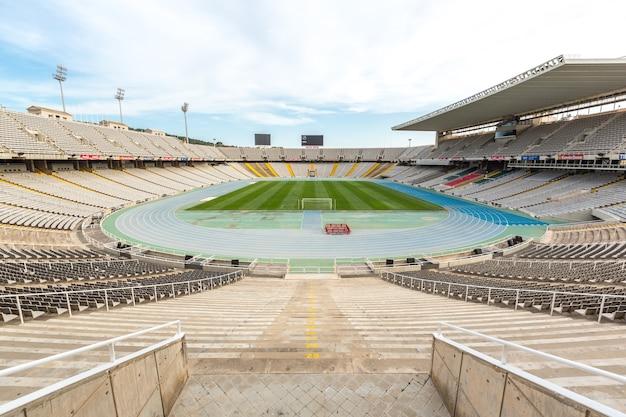 Stadion olimpijski w barcelonie, hiszpania Premium Zdjęcia