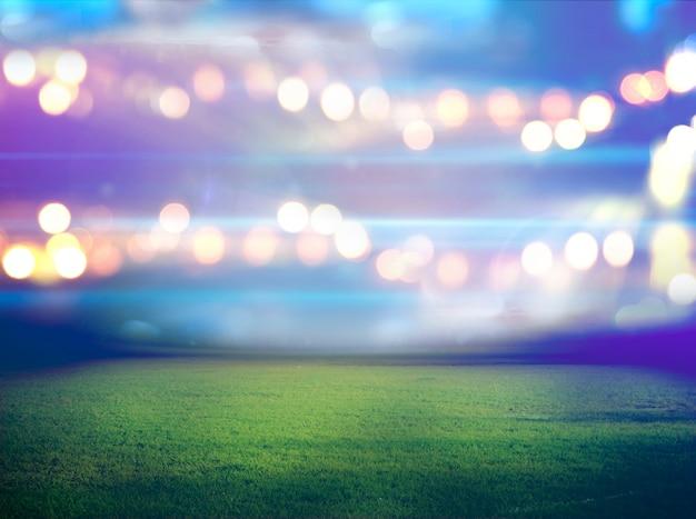 Stadion W światłach I Błyskach Premium Zdjęcia