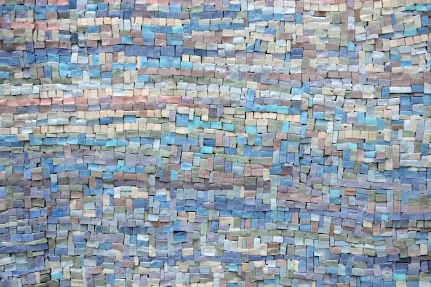 Stara Błękitna I Lila Mozaiki Tekstura Premium Zdjęcia