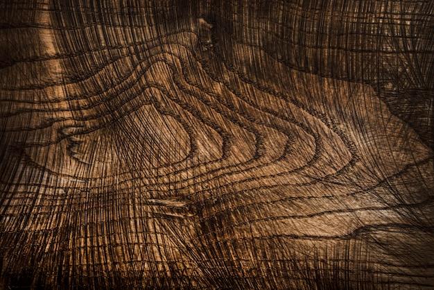 Stara I Używana Naturalna Drewniana Deska Do Krojenia Z Cięciami Premium Zdjęcia