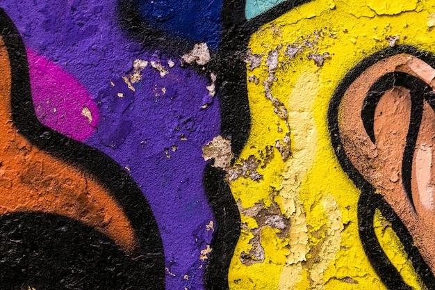 Stara Malująca Betonowa ściana Premium Zdjęcia