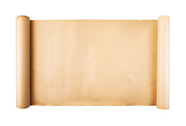 Stara Papierowa ślimacznica Na Białym Tle Odizolowywającym Premium Zdjęcia