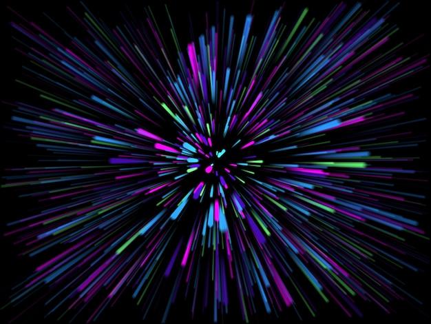 Starburst Streszczenie 3d Z Promieniami światła Darmowe Zdjęcia