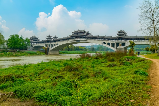 Stare Drewniane Chiny Zwiedzania Landmark Wieś Darmowe Zdjęcia