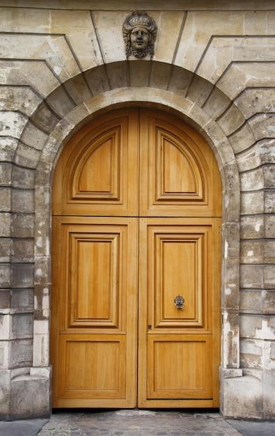Stare Drewniane Drzwi Premium Zdjęcia