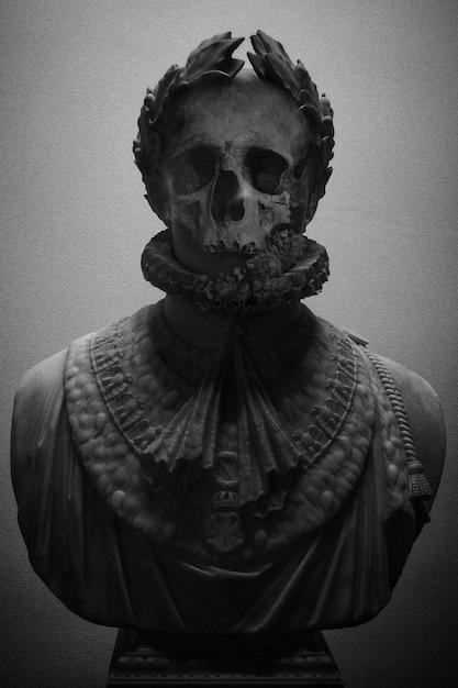 Starożytna Grecka Rzeźba Z Czaszką Darmowe Zdjęcia