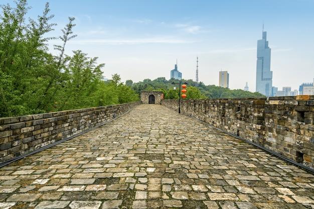 Starożytne Mury Miejskie W Nanjing W Chinach Premium Zdjęcia