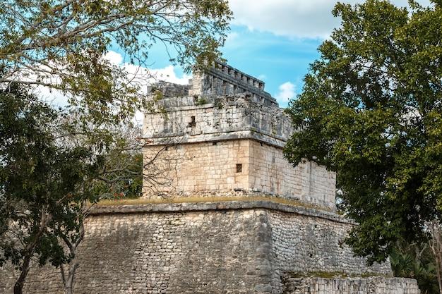 Starożytne ruiny w chichen itza Premium Zdjęcia