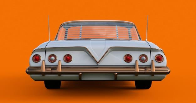 Stary Amerykański Samochód W Doskonałym Stanie. Renderowania 3d Premium Zdjęcia
