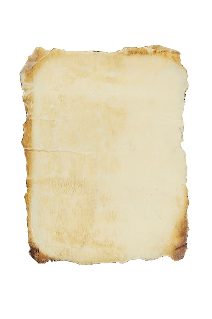 Stary Arkusz Papieru Na Na Białym Tle Premium Zdjęcia