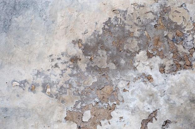 Stary Betonowej ściany Tło Z Krakingową Farbą. Tekstury Cementu. Premium Zdjęcia