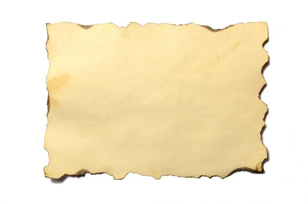 Stary pusty kawałek antykwarskiego rocznika rozdrabniania papieru manuskrypt lub pergamin Premium Zdjęcia