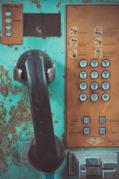 Stary telefon publiczny Premium Zdjęcia