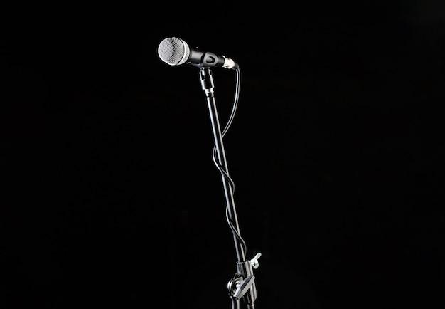 Statyw Mikrofonowy, Głos Mikrofonu, Mikrofon Zbliżeniowy. Premium Zdjęcia