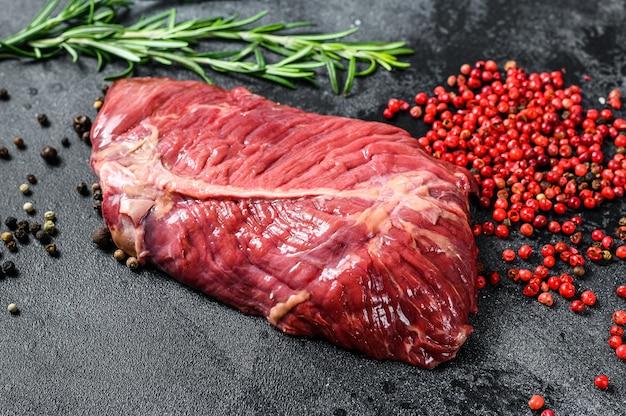 Stek żelazny Surowe Mięso Wołowe Marmurkowe Premium Zdjęcia