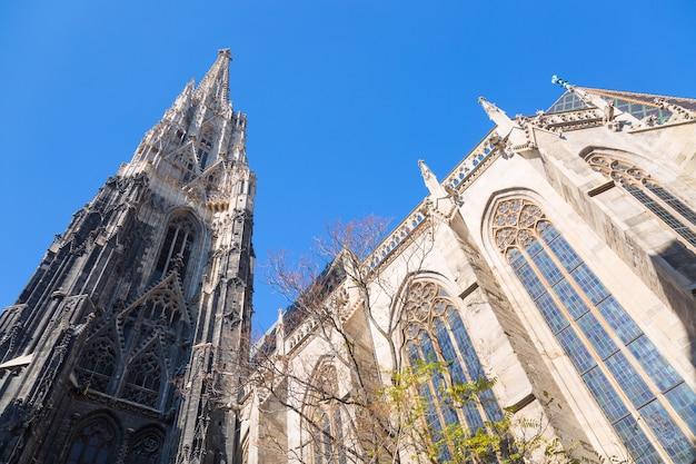 Stephansdom w wiedniu, austria z niebieskim niebem. Premium Zdjęcia
