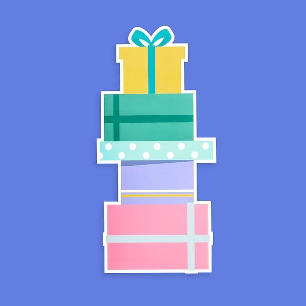 Sterta prezentów pudełek ikona odizolowywająca Darmowe Zdjęcia