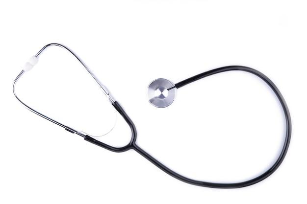 Stetoskop na białym tle Premium Zdjęcia