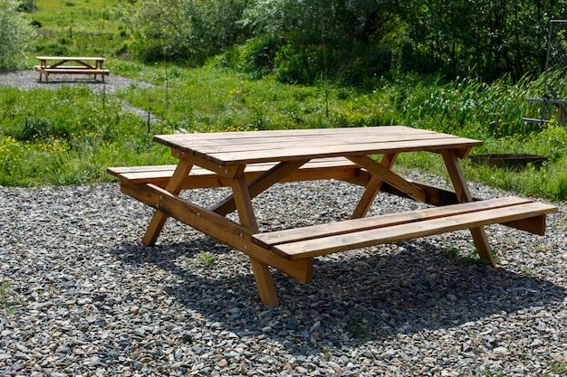 Stół I ławki Na Piknik Premium Zdjęcia