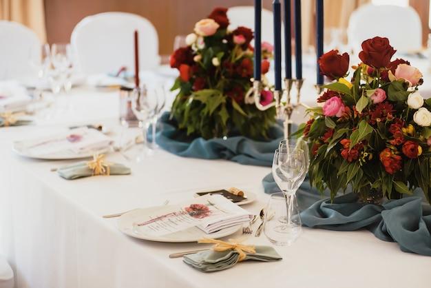 Stół Na Bankiet Premium Zdjęcia