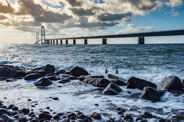 Storebaeltsbroen Most Nad Morzem, Dania Premium Zdjęcia