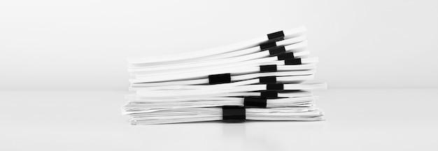 Stos Dokumentów Papierowych Raportowych Na Biurko Biznesowe, Dokumenty Biznesowe Dla Plików Raportów Rocznych. Koncepcja Biura Biznesowe. Premium Zdjęcia