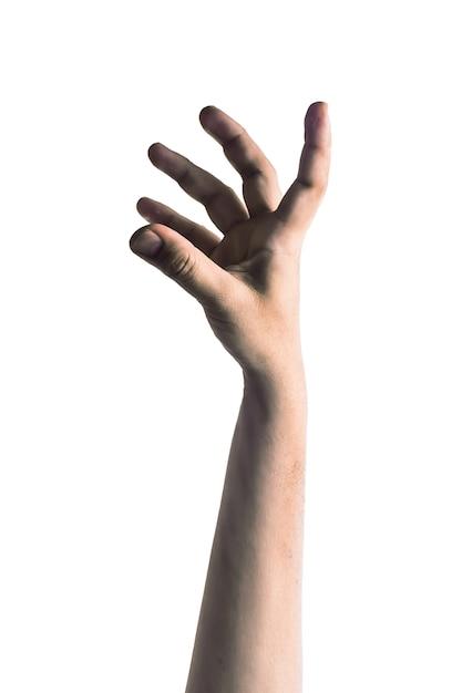 Straszna zombie ręcznie na białym tle Premium Zdjęcia