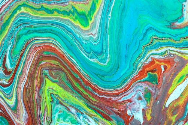 Streszczenie fale płynnego akrylu wlać malarstwo Darmowe Zdjęcia