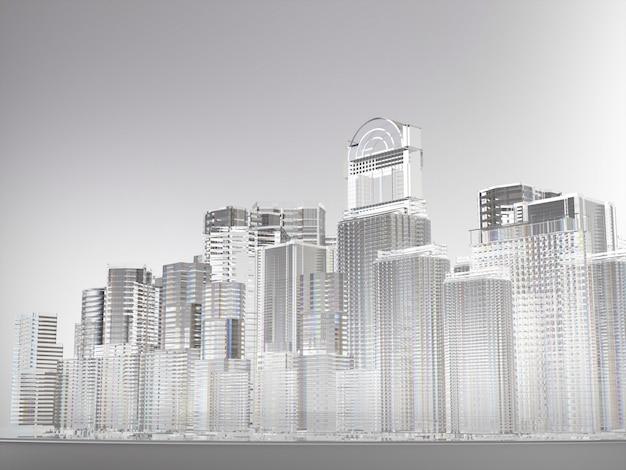 Streszczenie miasto budynków ze szkła Premium Zdjęcia